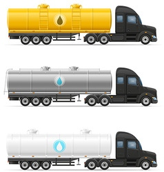 Semi truck trailer 10 vector