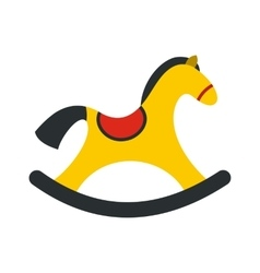 Children rocking horse icon vector
