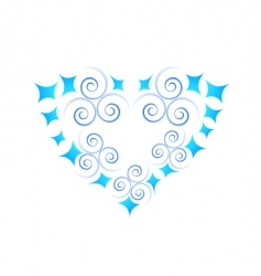 Abstract heart icon vector