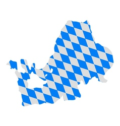 Bavarian flag and map of lake chiemsee vector