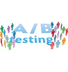 A B choice test marketing people vector image vector image