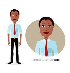 african american business man with natural hair vector image vector image