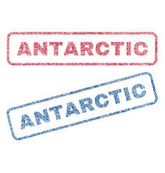 Antarctic textile stamps vector