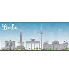 Berlin skyline with grey building vector