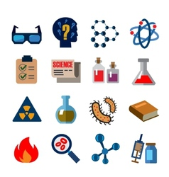 cience icons vector image