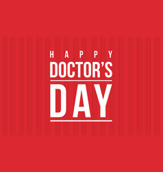 Collection stock of doctor day celebration card vector