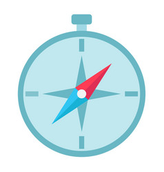 Compass flat icon navigation and travel vector