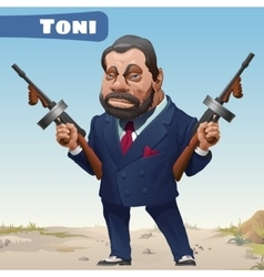 Fictional cartoon character - bandit toni vector