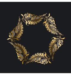 Gold on black art nouveau style vector