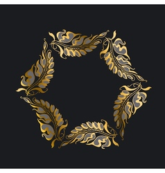 gold on black Art Nouveau style vector image vector image