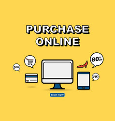 graphic for online shopping concept vector image