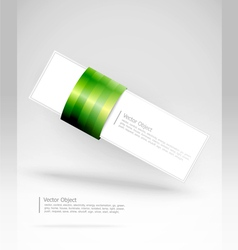 green stripe banner vector image