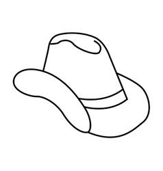 Hat cowboy wild west icon vector