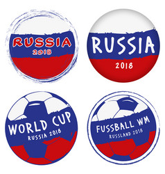 icons world cup russia vector image vector image