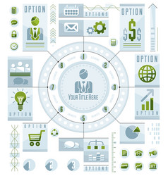Infographics circular concept with lot of vector