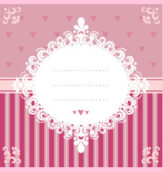 invitation card in pink tones vector image vector image