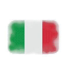 italy flag halftone vector image vector image