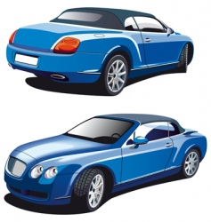 luxury blue car vector image vector image