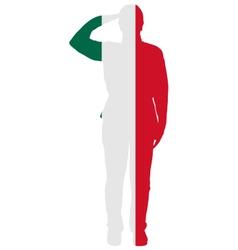 Mexican salute vector