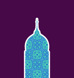 mosque isolated arab pattern madrasah for eid vector image vector image