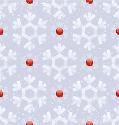 Seamless background - paper snowflakes vector image vector image