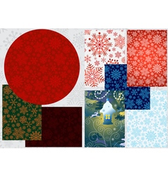 Set colorful Christmas banners vector image vector image