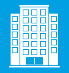 Skyscraper icon white vector