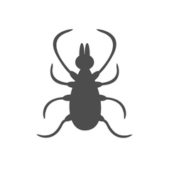 Tick insect silhouette Mite deer ticks big icon vector image