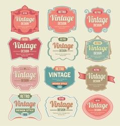 Vintage Retro Labels vector image vector image