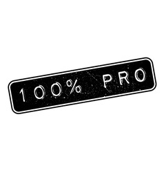 100 percent pro rubber stamp vector image