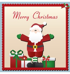 Santa claus christmas card vector