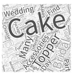 The cake topper in your bridal accessories package vector