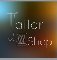 Tailoring logo vector