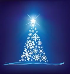 Christmas trees snowflake vector image