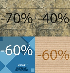 40 60 icon set of percent discount on abstract vector