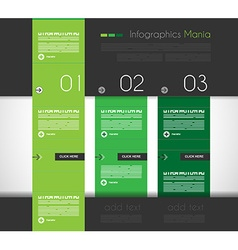 Infographic design template with flat design vector