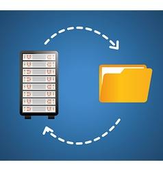 Database digital design vector