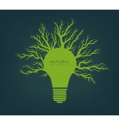 Green light from tree and branches vector