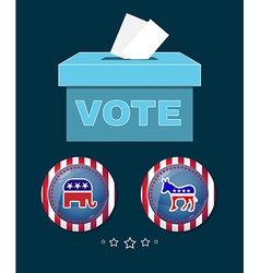 American presidential election elephant versus vector