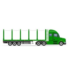 Semi truck trailer 11 vector