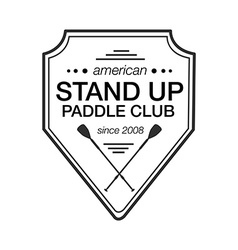 Logo template for stand up paddling athletic vector