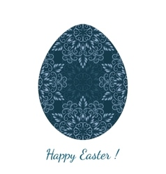 Easter egg decorated floral seamless ornament vector