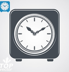 Square table clock with simple clockwise includes vector