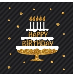 Happy birthday greeting card poster placard vector
