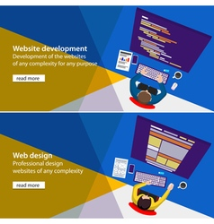 Web developer vector