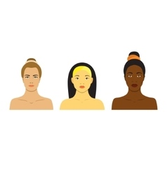Beautiful girls of different races Different skin vector image