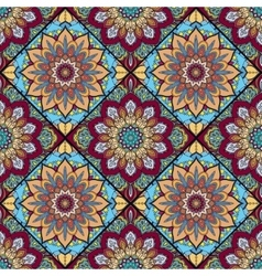 Boho tile flower squares colorful 2 vector