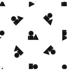 Box of bricks pattern seamless black vector