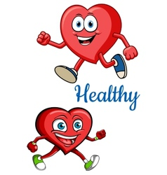 Cartoon running hearts concept vector image vector image