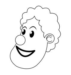 character clown circus juggler cheerful image vector image vector image
